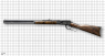 Winchester Carbine Engraved, M1892 miniature model on scale grid